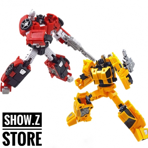 Iron Factory IF-EX26 Racing Bros Blaze Dash Bolt Rush Sideswipe Sunstreaker