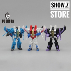 Pocket Toys PT01 PT02 PT03 Starscream Thundercracker Skywarp Coneheads Set of 3