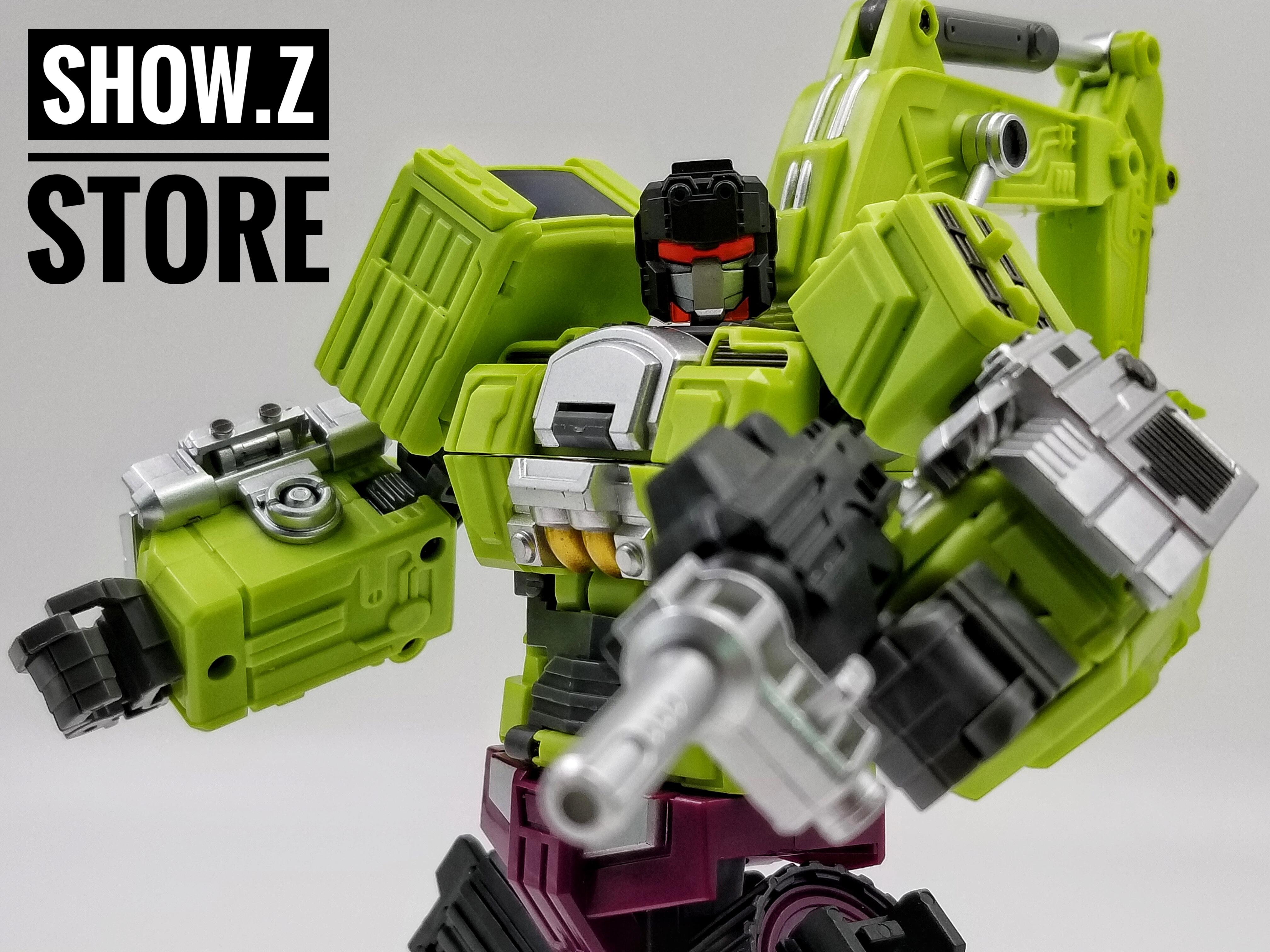 Jinbao Oversized Devastator Navvy Bulldozer Scavenger /& Bonecrusher Set A