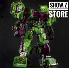 Generation Toy GT-01GS Gravity Builder Devastator Green Shadow Clear Vesion Set of 6