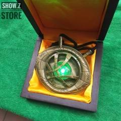 Cattoys 1/1 Dr Doctor Strange Eye of Agamotto Amulet Pendant Necklace w/ LED Light