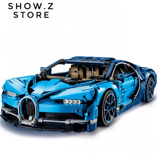 [No Box] Lepin 20086 Bugatti Chiron 42083 4031Pcs Technic Series Blue Version