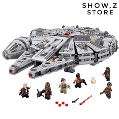 [No Box] Lepin 05007 Millennium Falcon 75105 1381Pcs Star Wars Series The Force Awakens