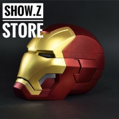 [Remote Metal Version] Cattoys 1/1 Colorized All Metal Made Iron Man MK42 Mark42 Helmet
