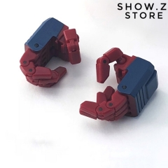 FansHobby MBA-02 MBA02 Red Articulated Hands Upgrade Set for MB-06 Power Baser Optimus Prime