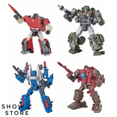 Takara TOMY War for Cybertron Siege Deluxe Wave 1 Sideswipe Hound Cog Skytread Set of 4