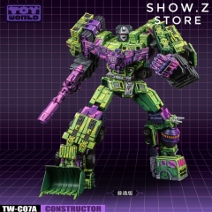 Toyworld TW TW-C07A TWC07A Constructor Devastator Cel Cell Shaded Standard Version Set of 6