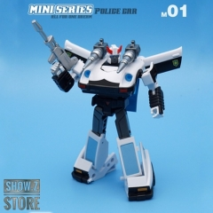 IronTrans M-01 M01 Mini Series Police Car Prowl