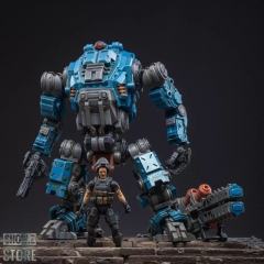JoyToy Source Acid Rain 1/18 Freeman Machine Armor w/ Pilot Mechas & Soldiers Figure Set Navy Blue Version