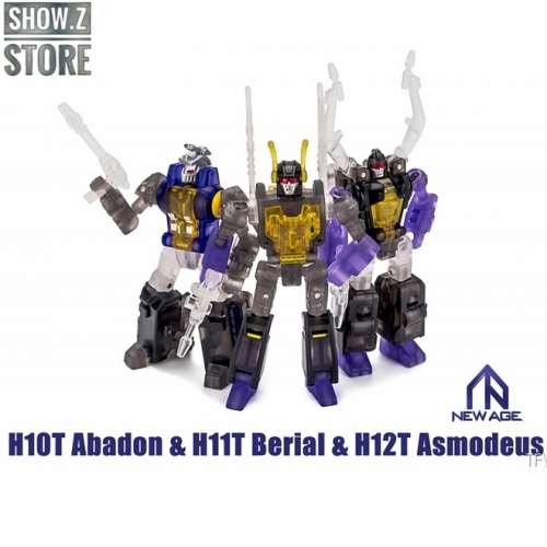 NewAge H-10T Abadon Kickback H-11T Berial Shrapnel H-12T Asmodeus Bombshell Insecticons Set of 3 Clear Version