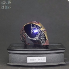 X-Space Studio 1/6 Iron Man MK50 Battle Damaged Helmet /w LED