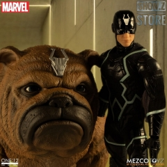[Pre-Order] MEZCO Toyz One:12 Black Bolt & Lockjaw Two-Pack