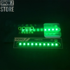 GOMO Wireless Green LEDs for Lighting System Set of 10
