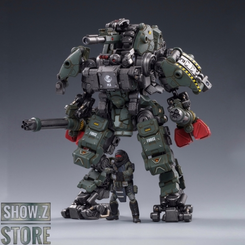 JoyToy Source 1/25 H05 Steel Bone Attack Mecha Military Green Color w/ Pilot