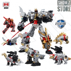 Black Mamba H6002-4B Raptor Slash & H6002-7B Robot Force Volcanicus Oversized Combiner Set of 6