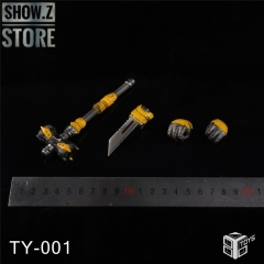 86Toys TY-001 Upgrade Kit for 3A DLX Bumblebee War Hammer, Sword & 2 Hands