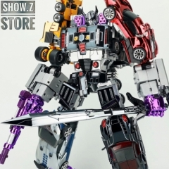[Pre-Order] TransFormmission Havoc Menasor Combiner Set of 5 Chrome Version