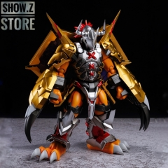 [Pre-Order] [SZ Custom] Bandai Custom Spirits Digimon Wargreymon Amplified w/ Custom Electroplated Chrome Painting