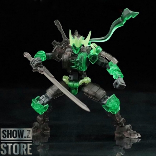 No.57 Armored Puppet Oni Flame 1/24 Model Kit Green Version